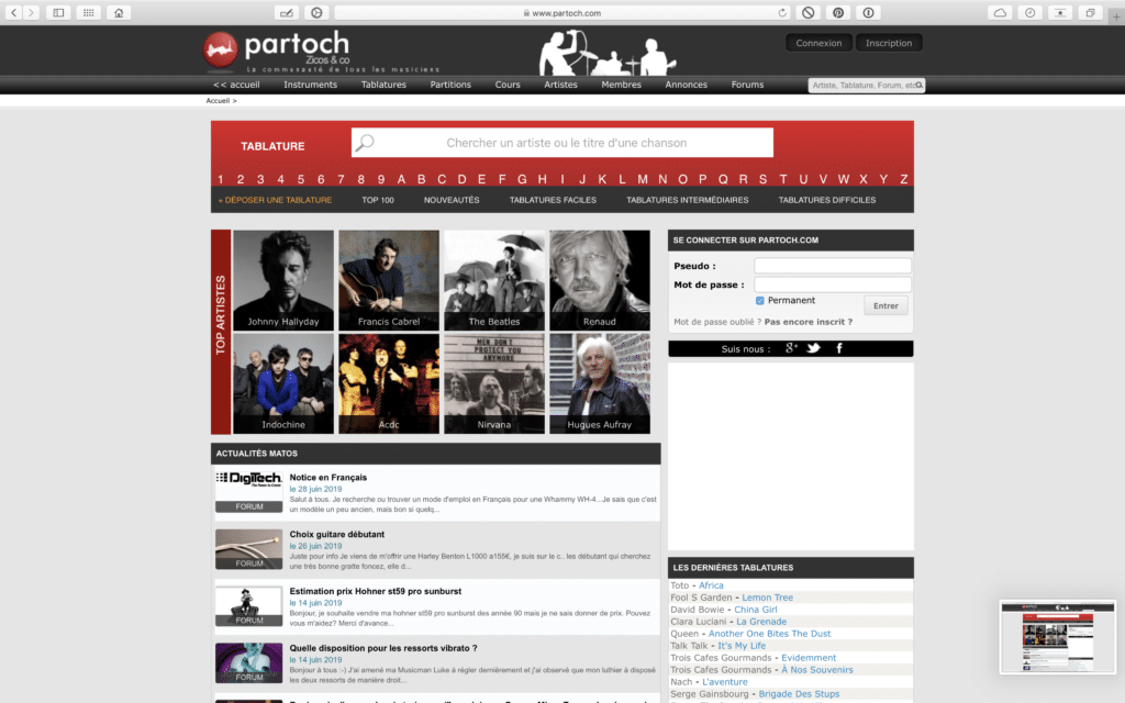 Site de tablatures partoch.com